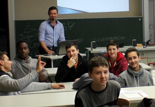 DIe Computerwerkstatt zu Besuch bei der Matthäus Beger Schule - Bild fehlt