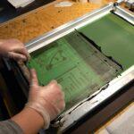 Siebdruck-Workshop - Siebe im Einsatz