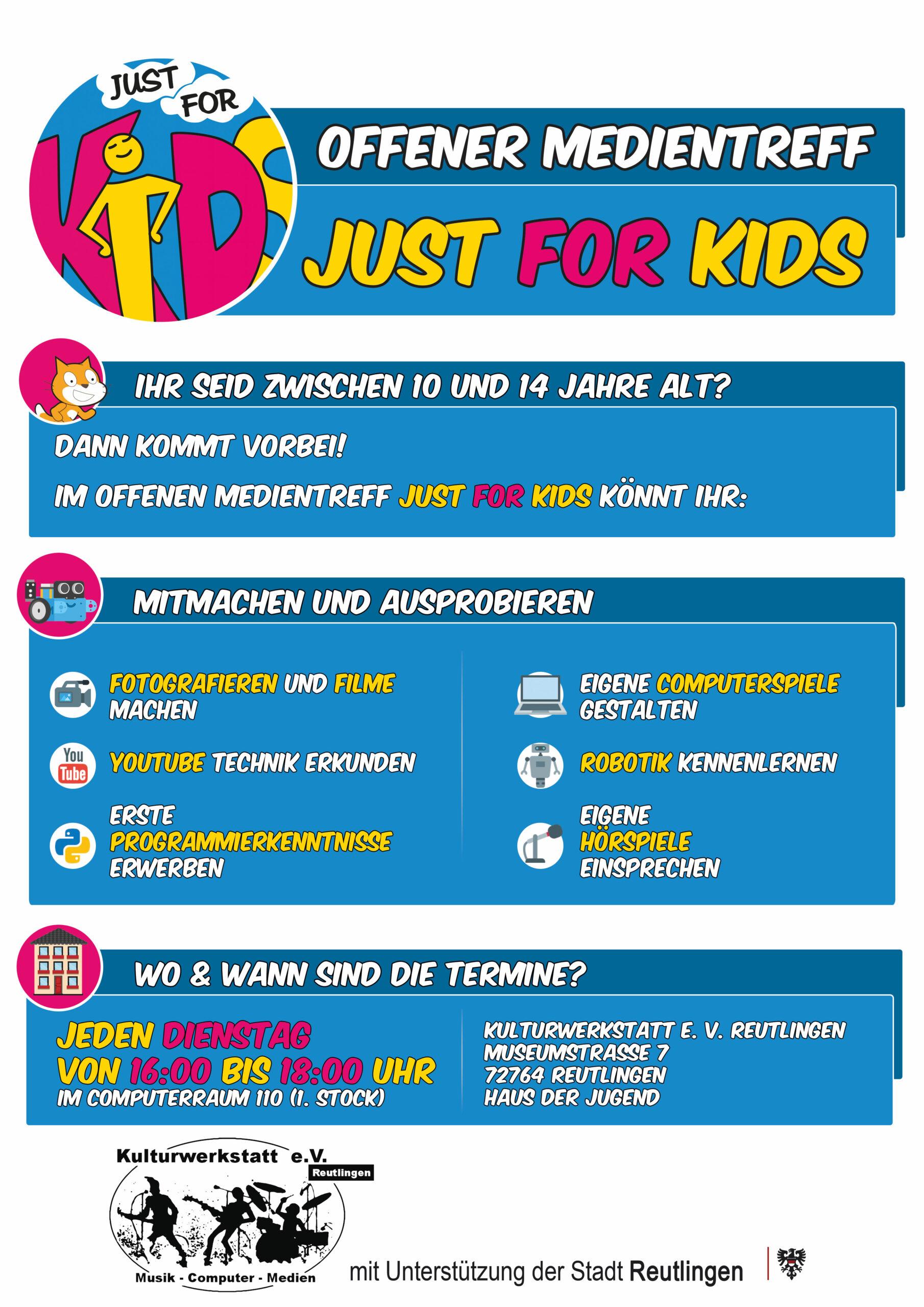Offener Medientreff: just for kids