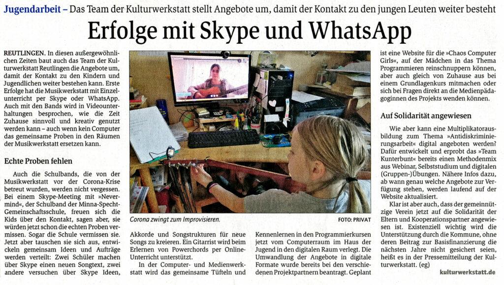 Pressebericht Gea 08.04.2020